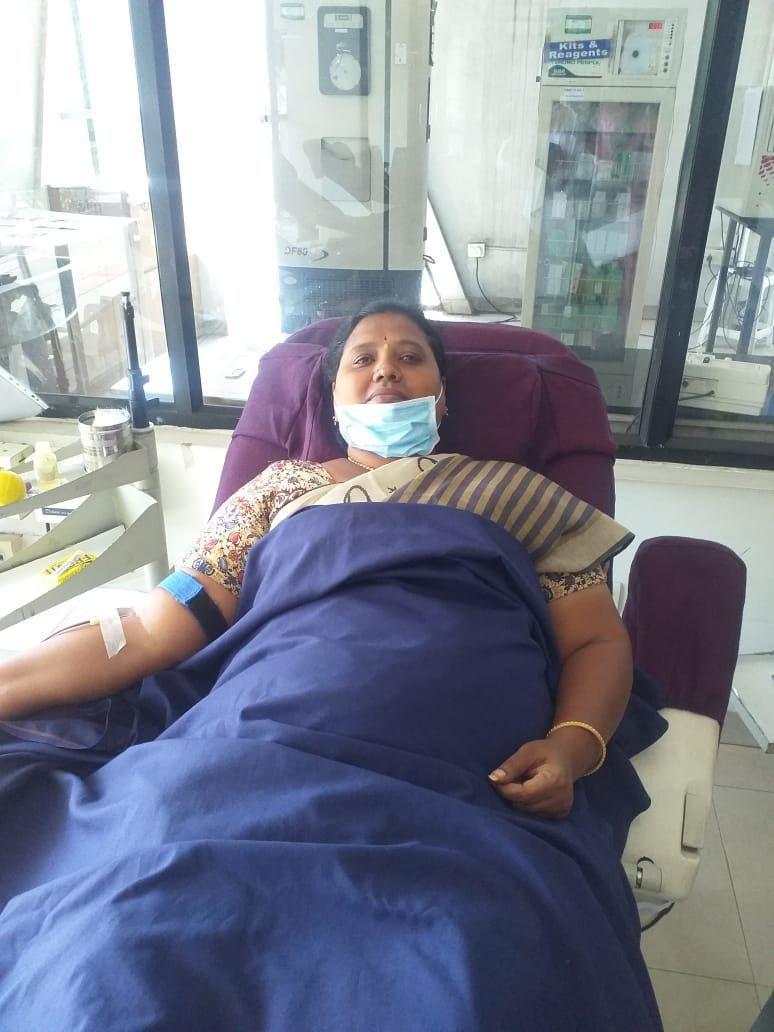 Blood donated Medchal Municipal Commissioner MNR Jyoti