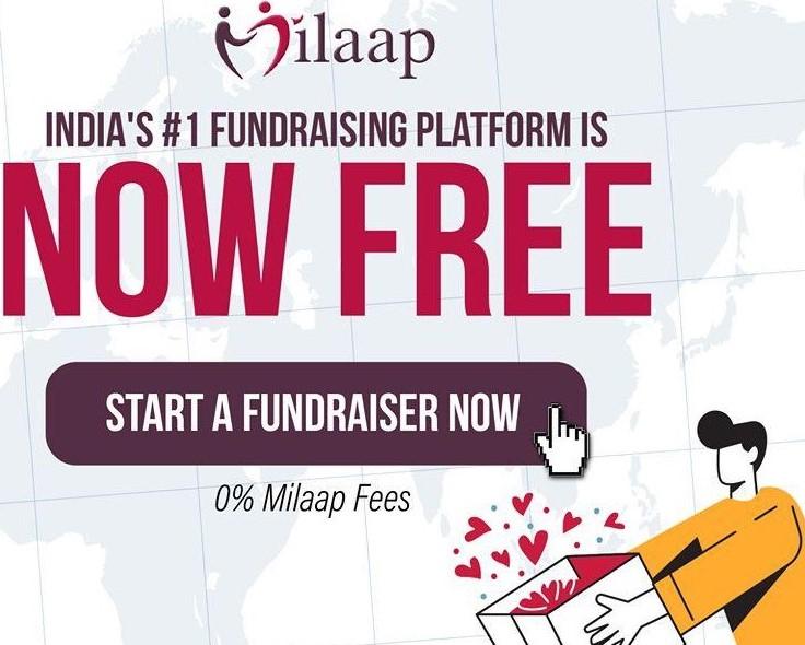 Milaap introduces free fundraising