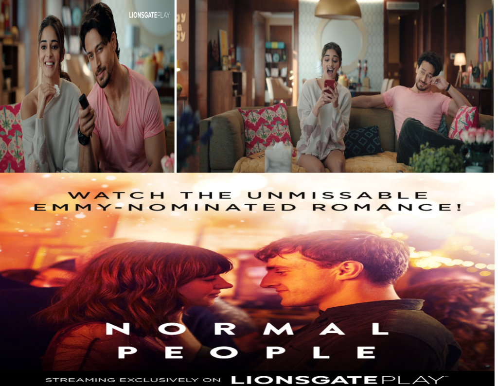 """Lionsgate Play collaborates with Tiger Shroff and Ananya Panday for the launch of brand's digital campaign, """"Play More Browse Less"""" and Normal People premiere in India"""