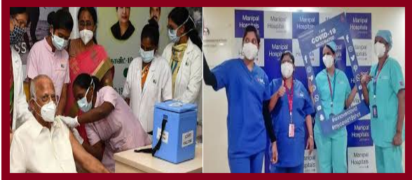 MANIPAL HOSPITALS VIJAYAWADA, BEGINS THE VACCINE DRIVE FOR THEIR FRONTLINE HEALTHCARE PROFESSIONALS