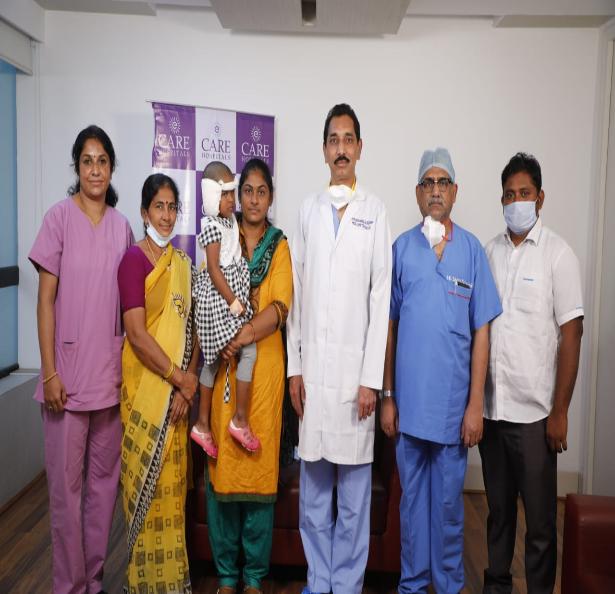 SRI VENKAIAH NAIDUJI AND MR CHEVIREDDY BHASKAR REDDY / AP CM RELIEF FUND HELP 3-YEAR-OLD UNDERGO BILATERAL COCHLEAR IMPLANT SURGERY AT CARE HOSPITAL