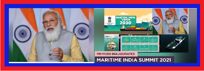 Text of PM's address at the inauguration of Maritime India Summit 2021