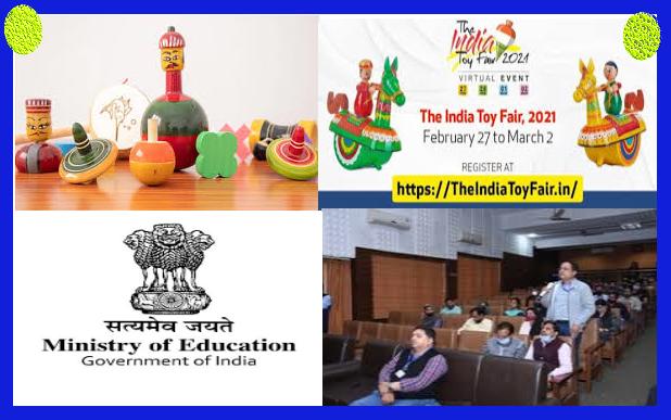 Three Kendriya Vidyalayas displaying educational toys in the India Toy Fair 2021
