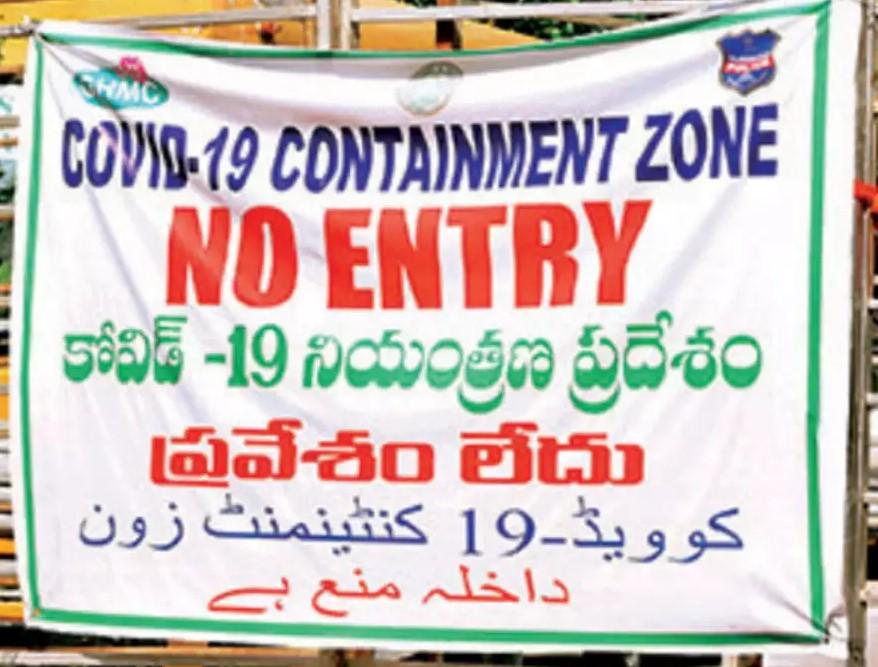 containment zones in hyderabad