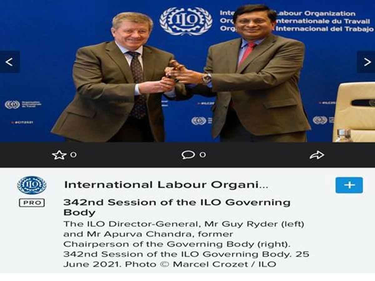 India's term as Chairperson of Governing Body of International Labour Organisation comes to an end