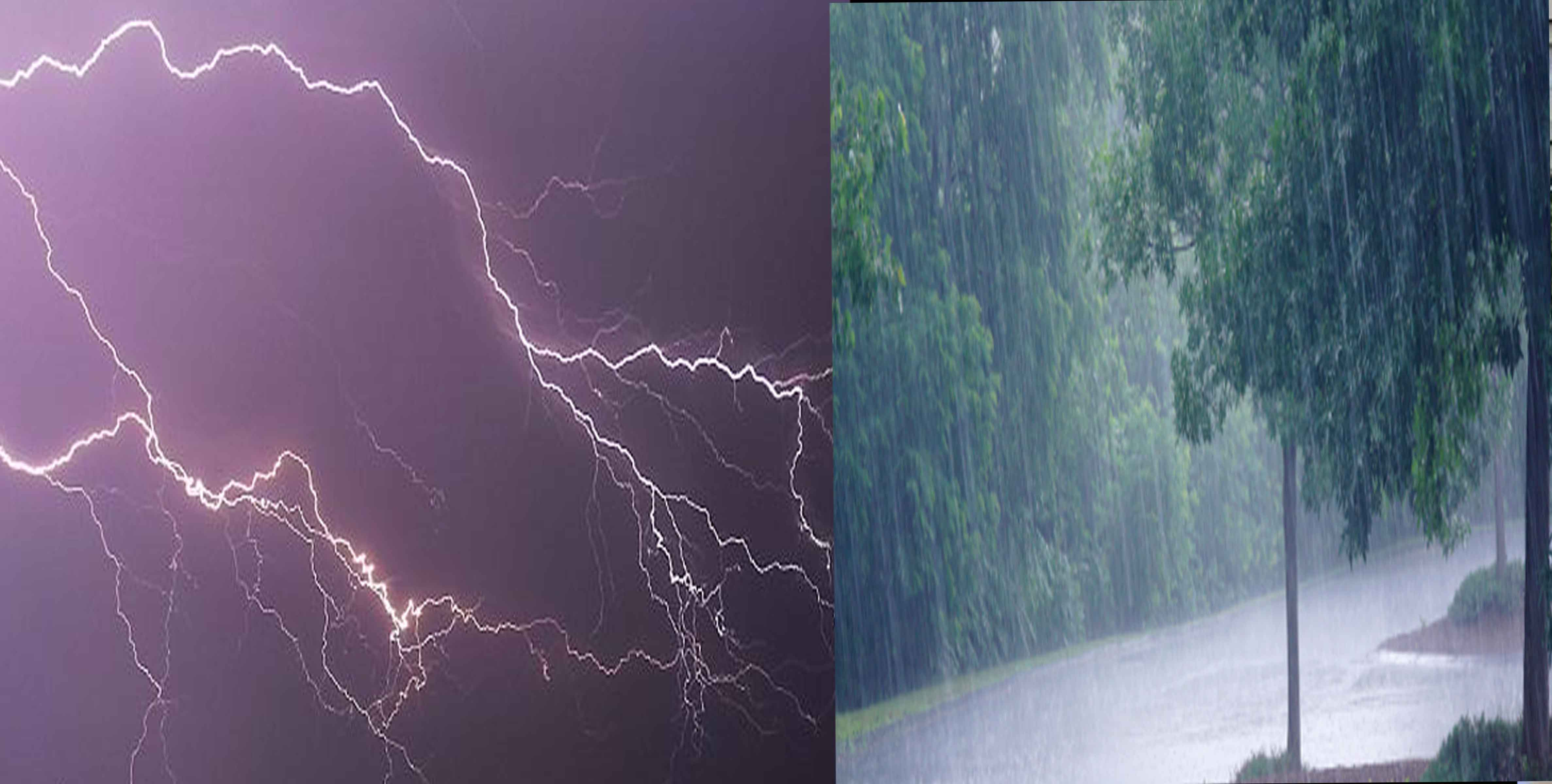Thunderstorm with lightning & squall very likely at isolated places over Himachal Pradesh and Uttarakhand; with lightning & squall at isolated places over Punjab, Haryana, Chandigarh & Delhi