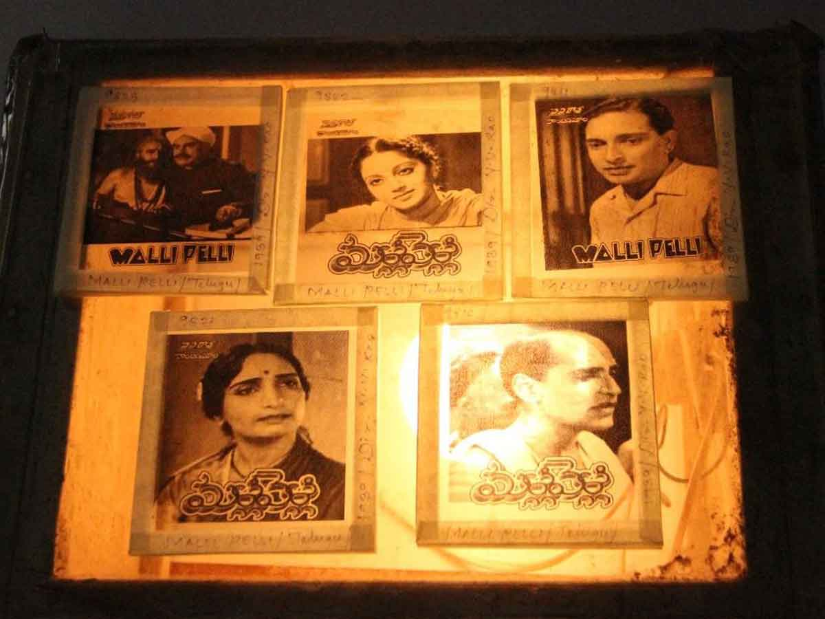 NFAI Acquires Rare Treasure of Over 450 Glass Slides of Early Telugu Cinema, from late 1930s to mid-1950s