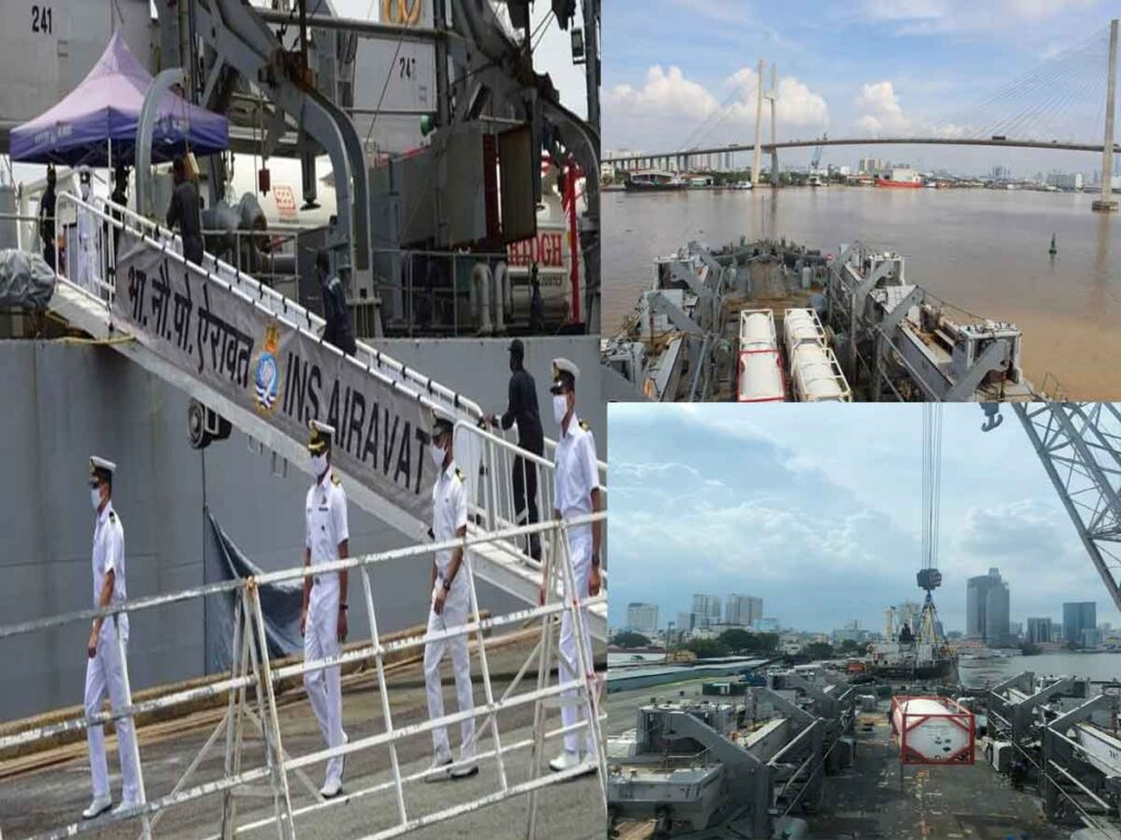 INS AIRAVAT ARRIVES AT HO CHI MINH CITY, VIETNAM WITH COVID RELIEF SUPPLIES