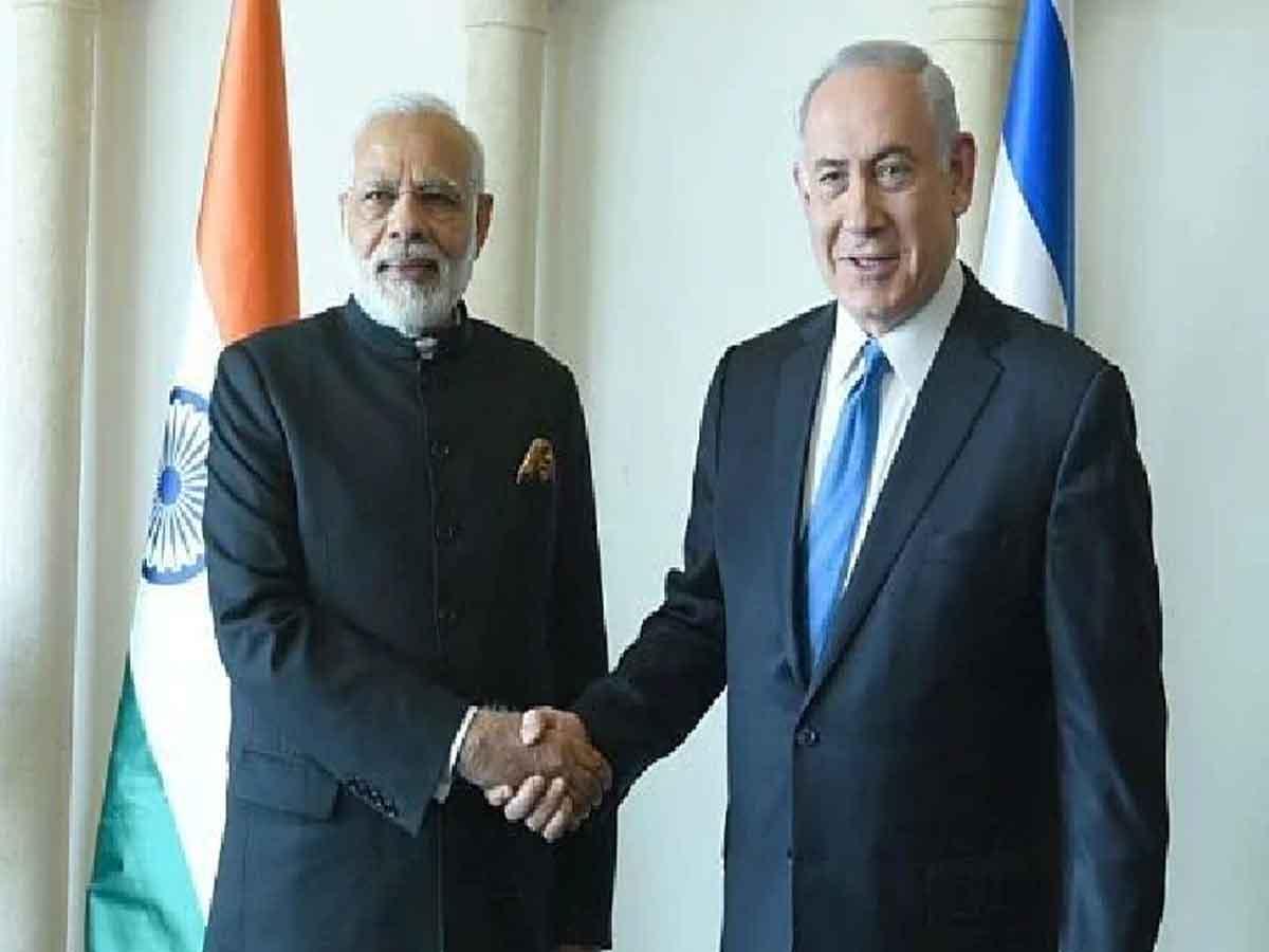Narendra-Modi-and-Naftali-B