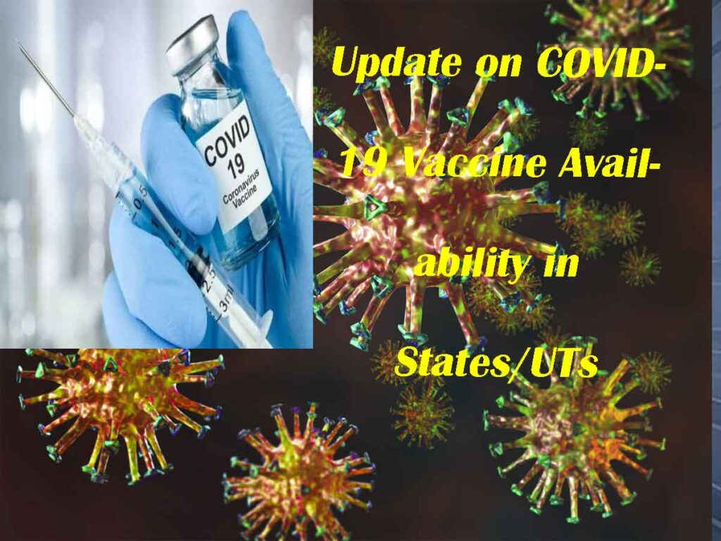 Update on COVID-19 Vaccine Availability in States/UTs