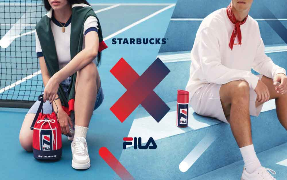 Seize the summer with sporty new Starbucks X FILA collection