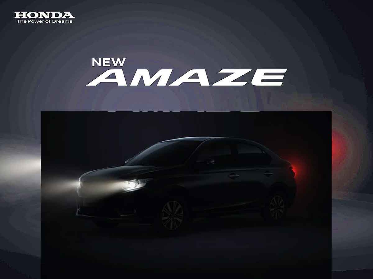 Honda Cars India opens pre-launch bookings for upcoming New Amaze
