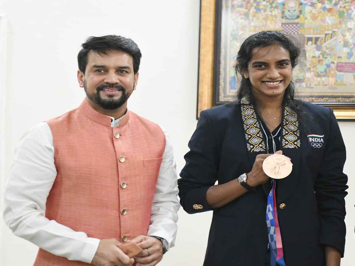 PV Sindhu is amongst India's greatest Olympians: Sports Minister