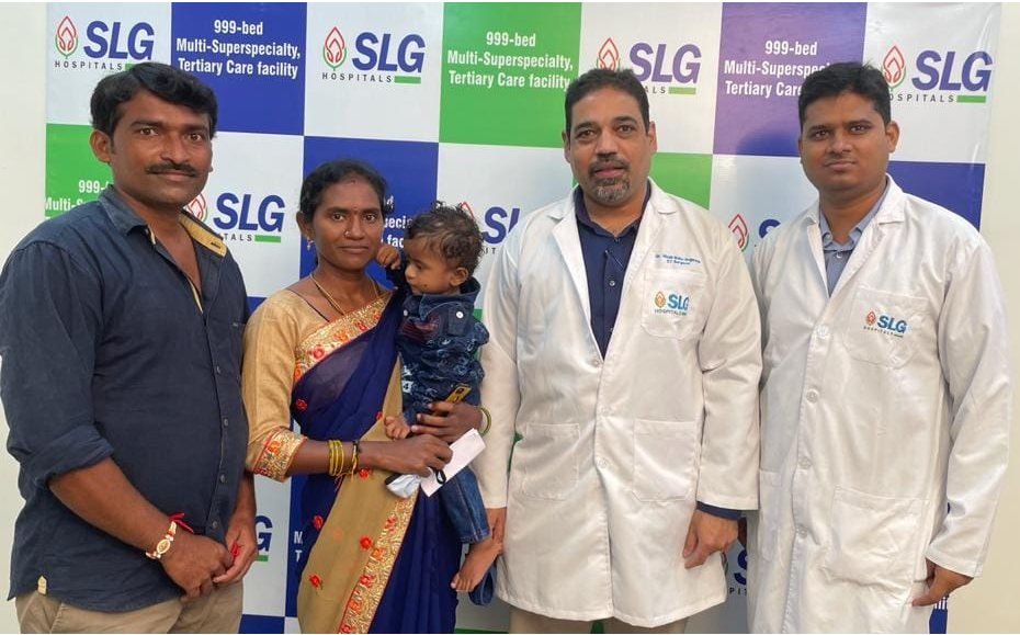 Doctors at SLG Hospitals save life of 11-months-old baby suffering with a large cyst in the lung