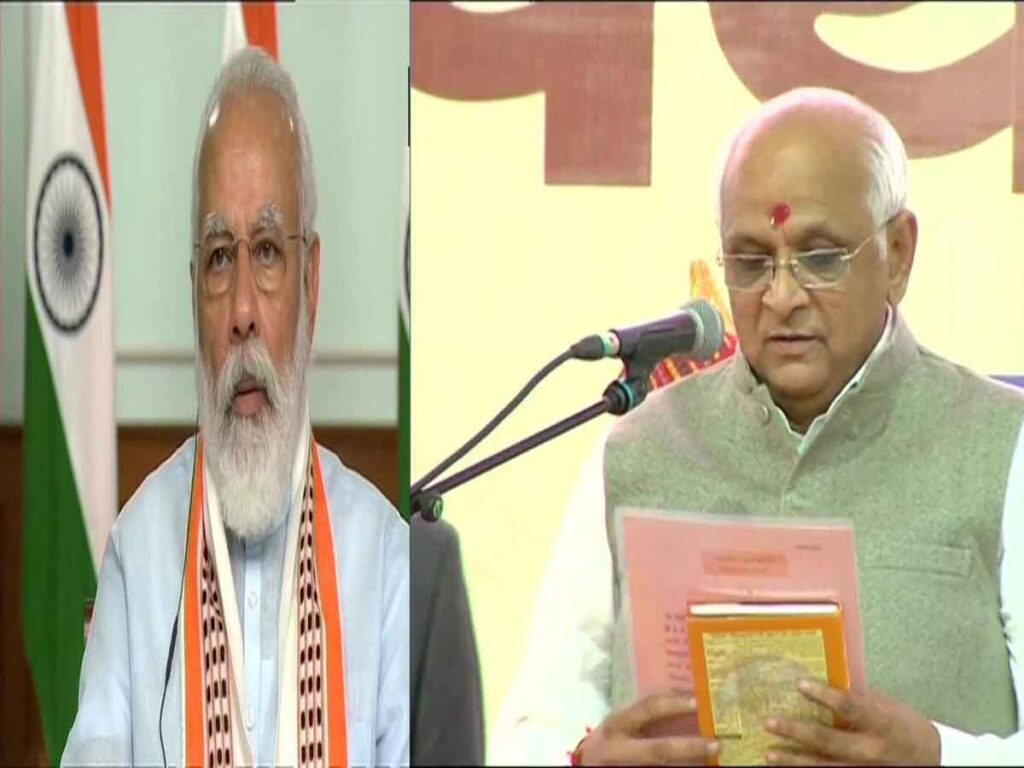 PM congratulates Bhupendra Patel on taking oath as CM of Gujarat