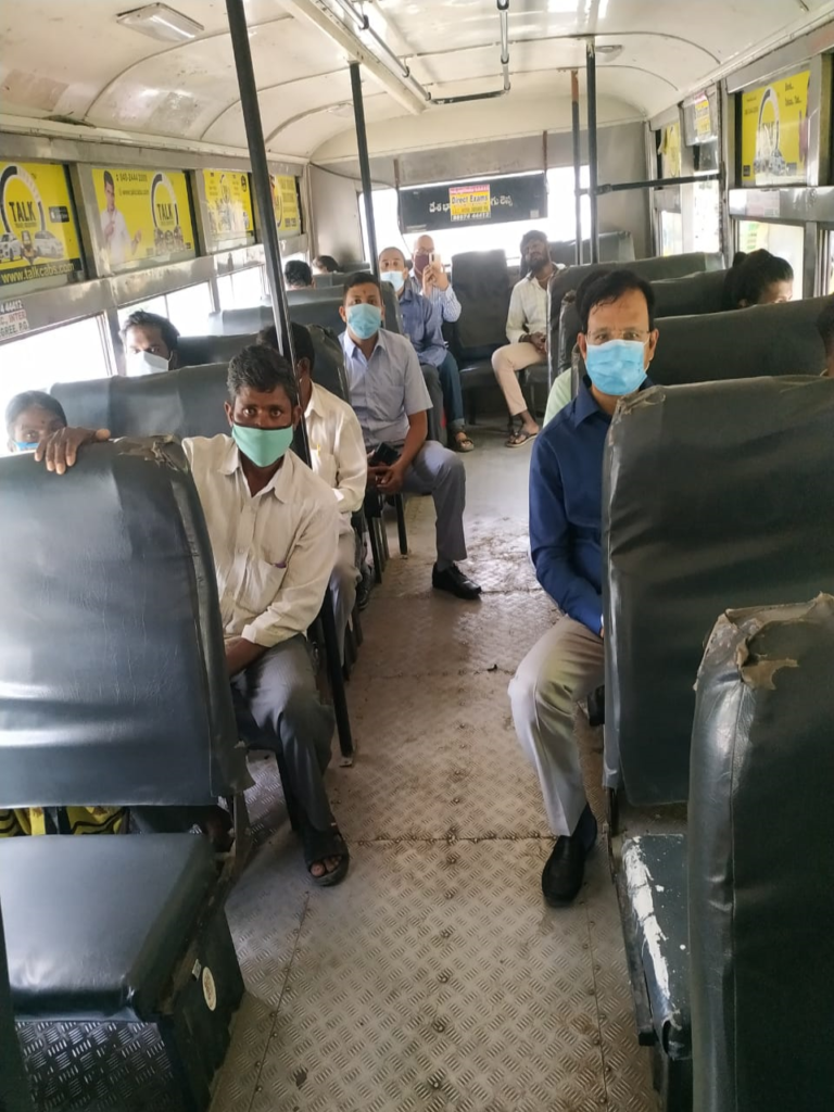 INCOGNITO TRAVEL IN TSRTC BUS BY M.D.