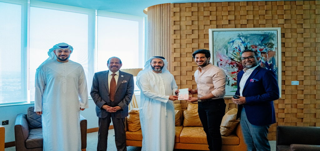 Popular Malayalam Actor Dulquer Salmaan receives UAE's Golden Visa in Abu Dhabi