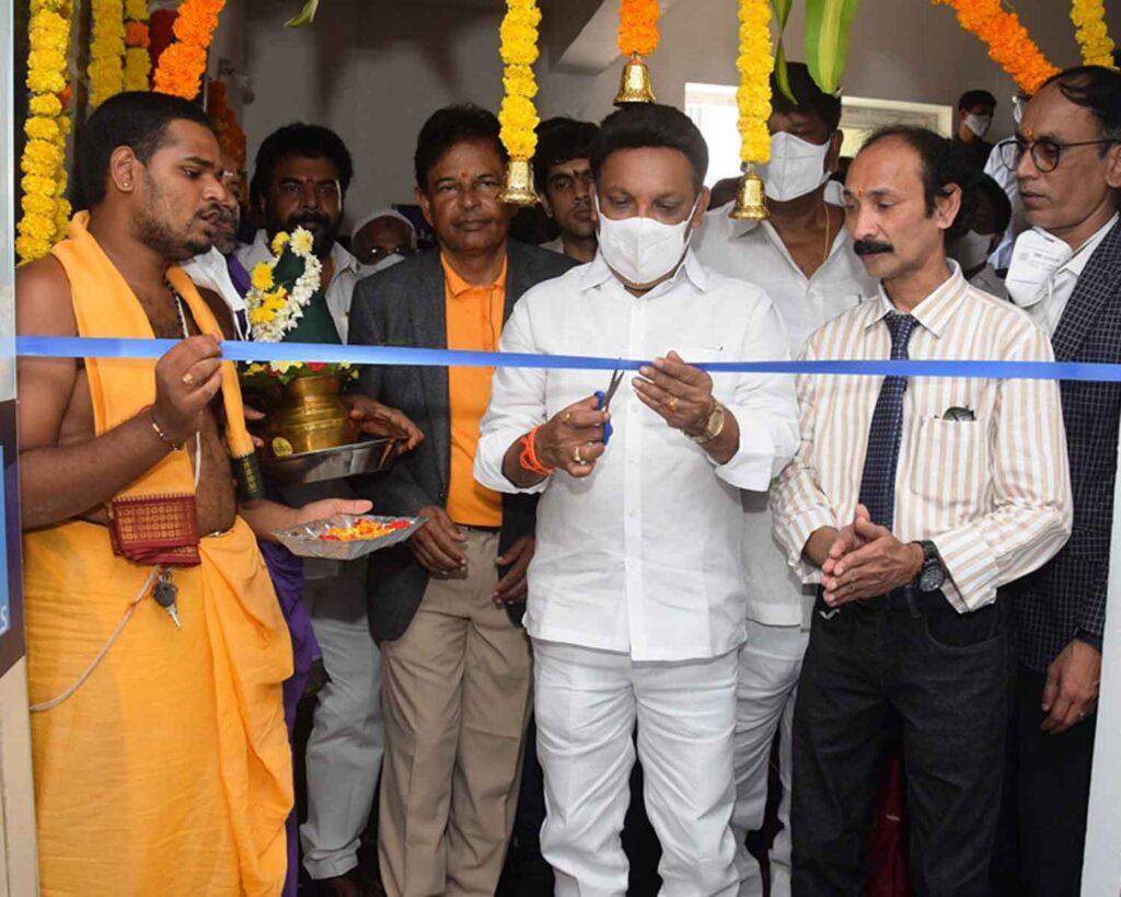 MLA Grandhi Srinivas unveiled MaxiVision Super Specialty Eye hospital in Bhimavaram