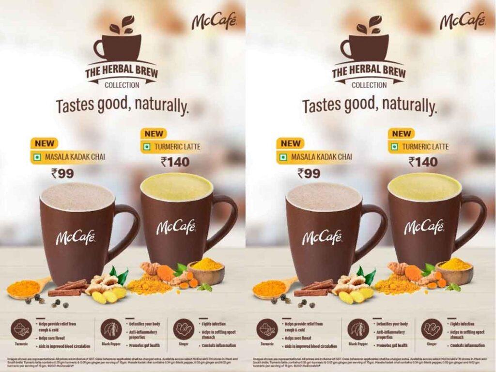 McDonald's India addstwoimmunity boosting beverages on the McCafé menu..