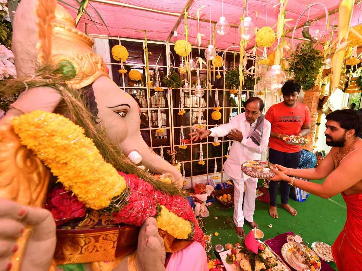 Vinayakachavithi Celebrations in Pragathi Bhavan