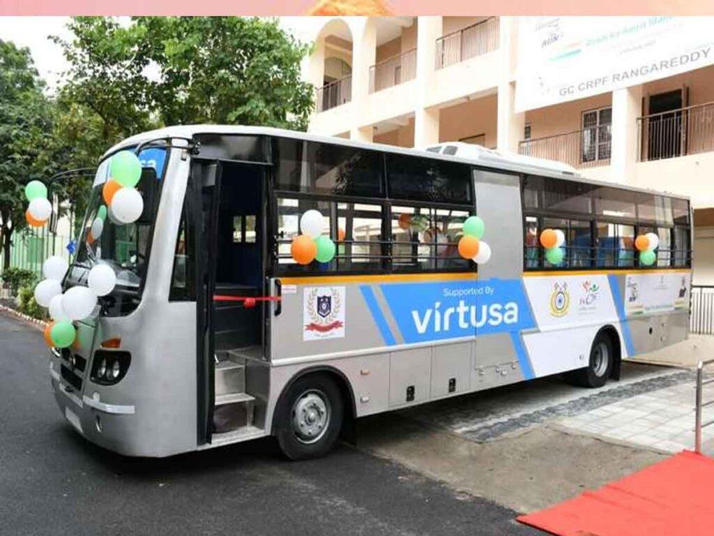 Virtusa Donates Bus and E Cart to NCDE